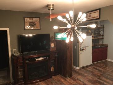 TV In Basement Bar